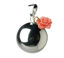 BABYLONIA BOLA  silver with rose charm