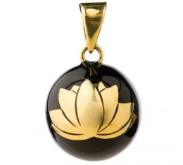 BABYLONIA BOLA   Black with gold lotus